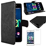 ebestStar - Coque Wiko Fever 4G Etui PU Cuir Housse Portefeuille Porte-Cartes Support Stand, Noir + Film Protection écran Verre...