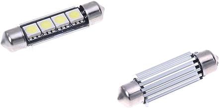 R 8 LAMPADINE SILURO 16 LED SMD BIANCO LUCI INTERNO 42MM TOOGOO