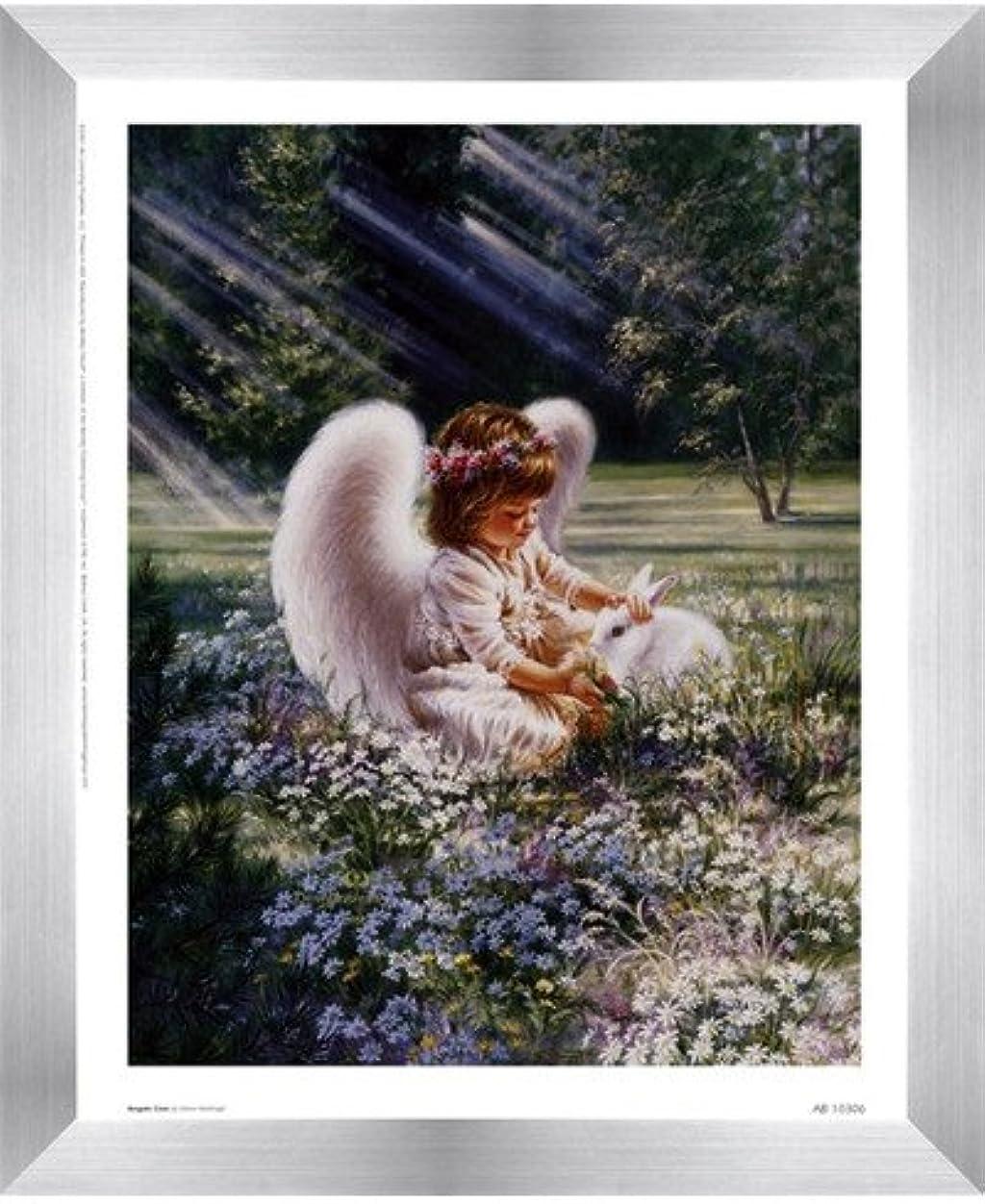 州中世の蒸発するAn Angels Care by Dona Gelsinger?–?9?x 11インチ?–?アートプリントポスター 8  x 10  Inch LE_63552-F9935-9x11