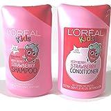 L 'Oreal Super Kids Very-Berry-Erdbeer-Shampoo, 250ml und L 'Oreal Very-Berry-Erdbeer-Conditioner,...
