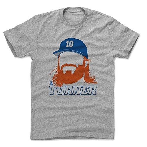 500 LEVEL Justin Turner Shirt (Cotton, X-Large, Heather Gray) - Los Angeles Men's Apparel - Justin Turner Silhouette B
