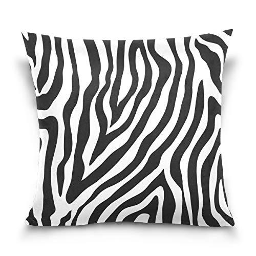 Linomo Kissenbezug 45x45 cm, Tier Zebra Druck Dekorative Kissenbezug Kissenhülle für Couch Sofa Bett Hause