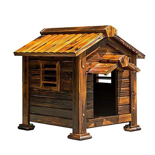 Ramingt-Home Hundehütte Mit Medium Hundehütte Welpen-Hundehaus Haustierhundehütte mit Dachschräge for eine spezielle Start for Ihr Haustier im Freien Haustier-Haus (Color : Brown, Size : 63X60X38CM)