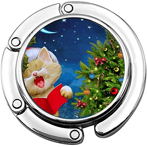 Geldbörse Haken süße Katze singen Weihnachtslieder drucken Charme Geldbörse Handtasche Tisch Schreibtisch Tasche Haken - Hakenhalter