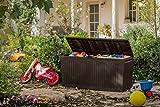 Auflagenbox / Kissenbox Koll Living 270 Liter l 100% Wasserdicht l mit Belüftung dadurch kein übler Geruch / Schimmel l Moderne Holzoptik l Deckel belastbar bis 250 KG ( 2 Personen ) - 3