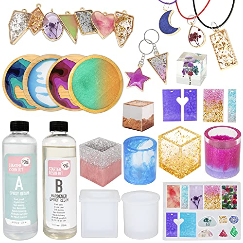 Resin Kit by Craft It Up! - Complete Starter Jewelry Making Resin Kit for...