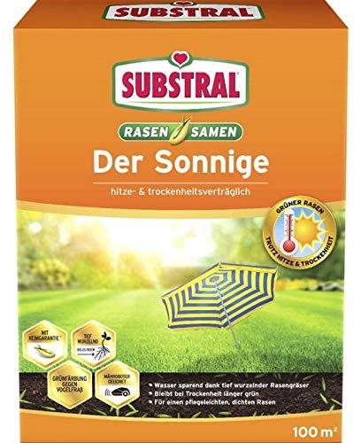 Substral Rasensamen Der Sonnige Saatgut 2,25 kg für ca.100 m² + Gratiszugabe 20g Kressesamen Sprint