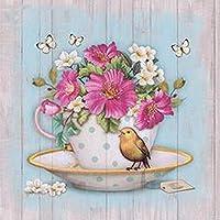 ダイヤモンドペインティングカップバードフルダイヤモンド刺繡花レッドパターンラインストーン針仕事DIYモザイクキット工芸品(40X50CM)