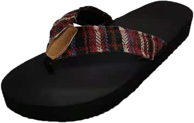 Lmtime Women's Slip-On Thong Sandals Casual Beach Non-slip Flip Flops Slippers Shoes Slide Sandal