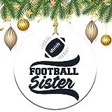 None-brands Ornamento monograma de corona de árbol de Navidad personalizado 2020 adorno de futbolín, regalo de Navidad, regalo de Navidad, recuerdo plano redondo