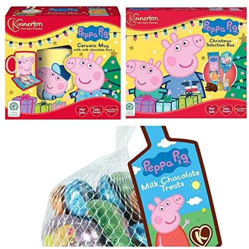 Peppa Pig - Taza y barra de chocolate (3 unidades), diseño de Peppa Pig
