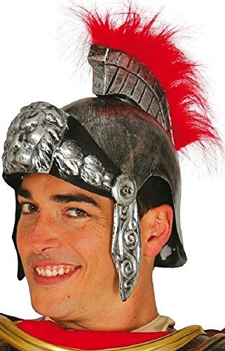 Fancy Me Adulte Homme/Femme Or ou Argent Soldat Romain Gladiateur Costume DÉGUISEMENT Chapeau Casque - Argent, Taille Unique, One Size