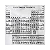 Ambesonne Periodic Table Decorative Napkins Set of 4, Monochrome Simple Science Chemistry Elements for...