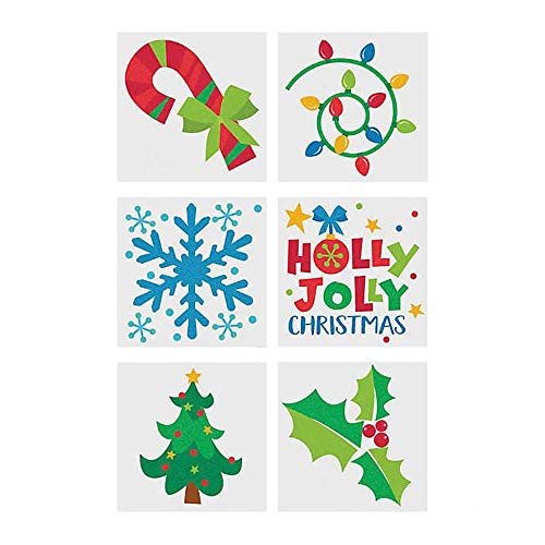 CHRISTMAS HOLIDAY GLITTER TATTOO - Apparel Accessories - 72 Pieces