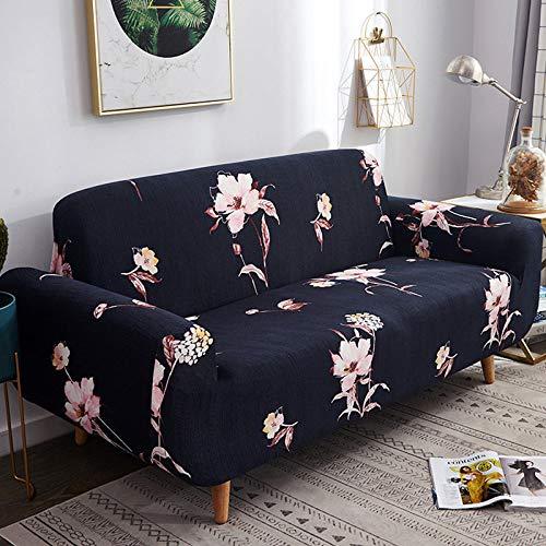 WUCHONGSHUAI Funda De Sofá,1/2/3/4 Seater Stretch Sofá Cover Todo Incluido Polvo Prueba Des Cubiertas De Protección Elástica, Flower Sea Printed Butaca 2, Seater 145,185Cm