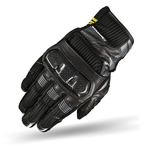 SHIMA X-BREEZE Black, Jungen Herren Touring Cross Classic Sommer Touchscreen Sport Motorradhandschuhe, Schwarz, Größe XL