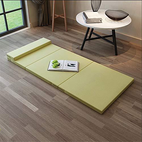 Colchón plegable de la cama del viaje del colchón Esponja plegable futón sofá cama for invitados o Alfombrilla cama de viaje Colchón Fácil de usar y portátil ( Color : Amarillo , Size : 90x200x5.5cm )