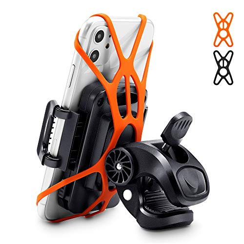 """ESR Bike Phone Holder, 360-Degree Rotatable Phone Mount for Bicycles/Motorcycles, Fits iPhone 11 Pro Max, iPhone 8, Huawei P30 Pro, Samsung S10, GPS, and More, 2.9 to 4.3"""" Adjustable Width, Black"""