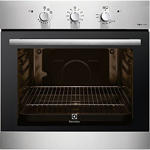 Electrolux F13GX Gas natural 69L 1760W A+ Negro, Acero inoxidable - Horno (Medio, Gas natural, 69 L, 1760 W, 69 L, 1760 W)