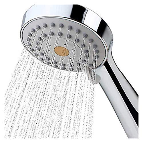 Alcachofa De Ducha Alta Presión ducha de mano Cabeza de ahorro de agua redonda del cromo del ABS Booster baño de ducha de alta presión de mano ducha de mano Tomar Una Ducha