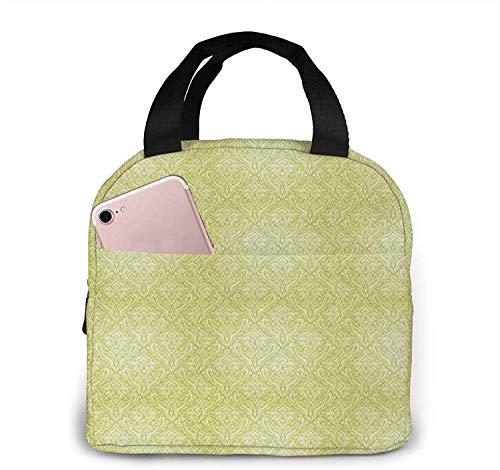 Bolsa de almuerzo con aislamiento Bolsa fresca para cajas de almuerzo Bolsa de picnic plegable de tela impermeable para mujeres, hombres y adultos, arreglo para niños