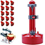 Electric Potato Peeler Automatic Peeler with 18 Replacement Blades Rapid Rotating Peeling Machine Apple Paring Machine Fruits Cutter (Red)