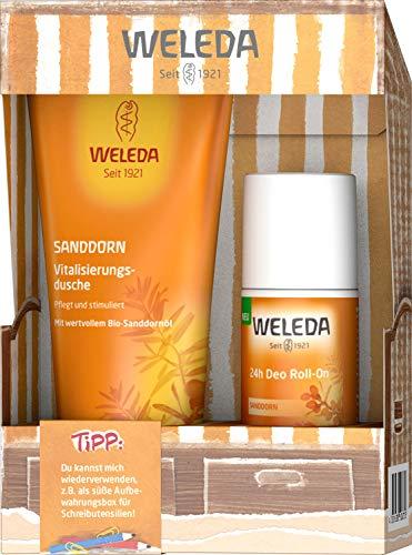 WELEDA - Juego de sillón de playa con espino de arena y espino de arena para el cuidado diario del cuerpo