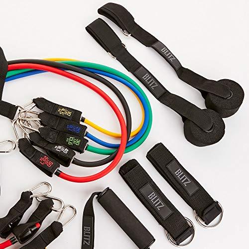 Blitz Unisex's Resistance Tube Set, Multi Coloured, One Size