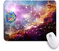 Mabby マウスマット ゲーミング オフィス マウス パッド,Marvelous galaxy and exo planet in a deep space,Non-Slip Rubber Base Mousepad for Laptop Computer PC Office,Cute Design Desk Accessories