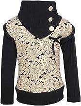Cutecumber Girls Sweater Knit Embellished Beige Top. AM-CC1237A-BEIGE