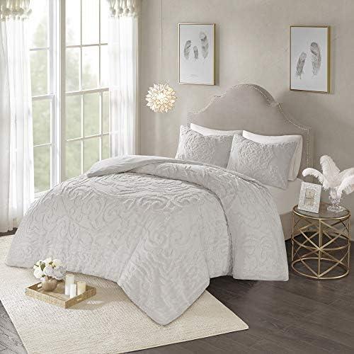 Madison Park Laetitia 100 Cotton Duvet Set Chenille Tufted Medallion Design All Season Cozy product image