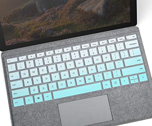 CASEDAO Keyboard Cover for Microsoft Surface Pro 7 (2020 2019)/Surface Pro 6 (2018)/ Surface Pro 5(2017) 12.3 inch Surface Pro Keyboard Protector Skin(Gradual Mint)