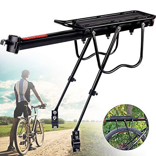 Jorzer Fahrrad-Gepäckträger Fahrrad Abnehmbarer Gepäckträger Gepäckträgerhalter Verstellbarer Fahrradträger mit hoher Kapazität für Mountainbike-Rennräder