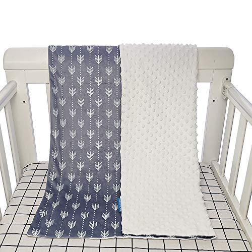 Baby Crib Blanket Soft Minky Double Layer Dotted Backing $7.25 (50% OFF)