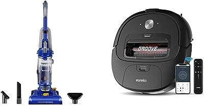 Eureka PowerSpeed Bagless Upright Vacuum Cleaner, Lite w/Groove Robot Vacuum