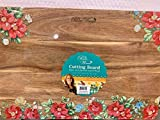 The Pioneer Woman Vintage Floral 12' x 18' Acacia Wood Cutting Board, Red Edge