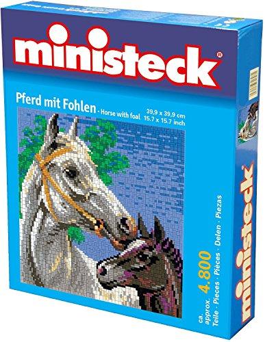 Ministeck 31878 - Pferd mit Fohlen, ca. 5000 Steine und Zubehör