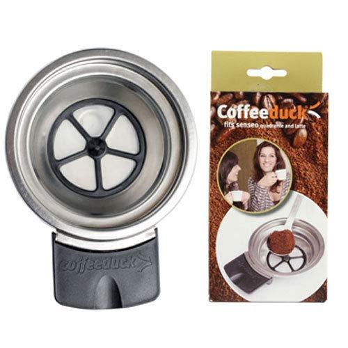KF Nachfüllbarer Padhalter Ecopad Kaffeepadhalterung Coffeeduck Tee und Kaffee Dauerfilte, wiederverwendbarer Kaffeefilter für viele Senseo Latte Quadrante HD7850 HD7860 HD7825