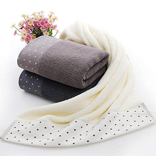 XdiseD9Xsmao badhanddoek 33 x 75 cm van katoen, zacht en waterafstotend, dikke badhanddoek met zachte punten voor huishoudelijk gebruik