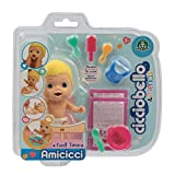 Giochi Preziosi Cicciobello CCB Amicicci Food Time, Tenero Bebè Biondo, Mini Personaggio Morbidoso con Set Pappa, Multicolore, CC001300
