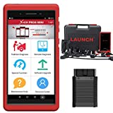 LAUNCH X431 Pros Mini (Same Functions as X431 V PRO) Bi-Directional Scanner, 30 Reset Service Automotive Diagnostic Scan Tool with ECU Coding, Key Coding, All System with Bluetooth 2Years Free Update