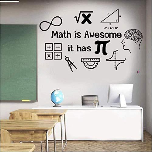 Sticker Mural/Wall Sticker Math Sticker Mural Math is Awesome It Has Pi-Vinyl Wall Class Sticker Teacher Gift From Math Math Sticker 93X57Cm