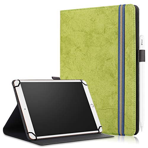 SINSO Universal Case for 9-11 Inch Tablet, Stand Folio Case Cover for All 9-11' Tablets (Samsung Tab 9.6/10.1/10.5, iPad 9.7-11', Lenovo Dragon Touch 10', Huawei 10.1-10.8, Fire HD 10), Green