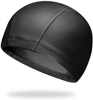 スイムキャップ ゆったりサイズ 55-65cm 無地 男女兼用 黒色