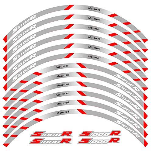 Alta calidad 12 PCS Ajustar la etiqueta de la rueda de la rueda de la rueda de la rueda de la raya del borde reflectante para S1000R (Color : 2)