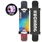 YSCYLY Standard Skateboard,Double Warped Longboard,FüR AnfäNger Und Profis