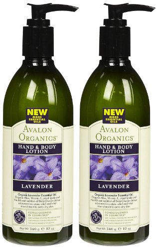 Avalon Organics Lavender Hand & Body Lotion, 12 Oz (Pack of 2)