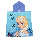 Disney Childrens Girls Frozen Elsa And Anna Poncho Towel (One Size) (Blue)