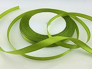 ソリッドカラーサテンリボン1/4インチ、25ヤード(オリーブグリーン)