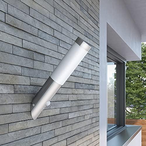 FAMIROSA Lampioncino Moderno in Acciaio Inox, sensore di movimento-913